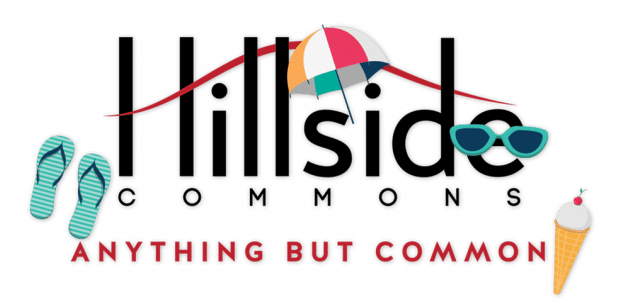 Hillside Commons logo with summer accessories